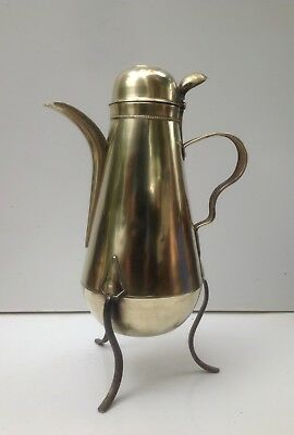 Antique Brass Coquemar French Coffee Pot Pitcher