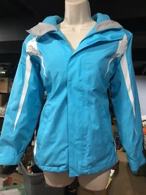 Youths The North Face Girls Blue Hyvent Hooded Shell & FleeceJacket Size L 14/16