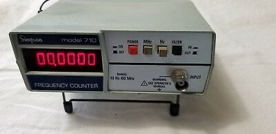 Simpson Frequency Counter Model 710, 10Hz to 60Mhz, Used, good condition