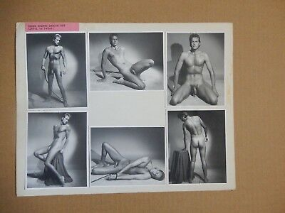 One of a Kind Vintage Model Card, Physique Photography, Male Nude, Gay Interest