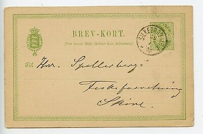 Denmark postal stationery postcard used 1906 (Q503)