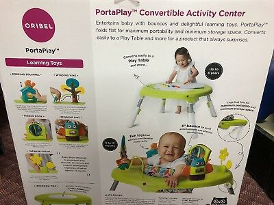 Porta Play 4 in 1 Foldable Activity Center Forest Friends Portable Baby 5-12 Mon