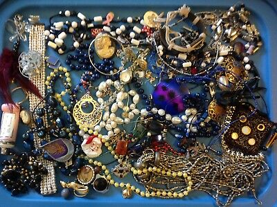 Vintage to Now JUNK DRAWER Jewelry Lot #9 Estate Find UNSEARCHED UNTESTED