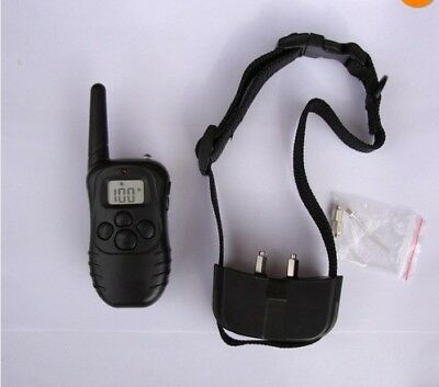Pet Dog Training Collar Rechargeable Electric LCD 100LV Shock With Remote