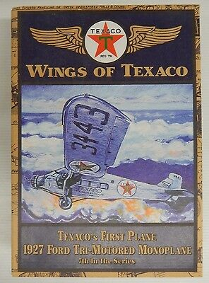 Wings of Texaco TEXACO'S FIRST PLANE 1927 FORD TRI-MOTORED MONOPLANE Coin Bank