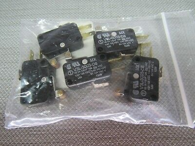Microswitch V3L-3003-D8 Roller Lever Lot of 5