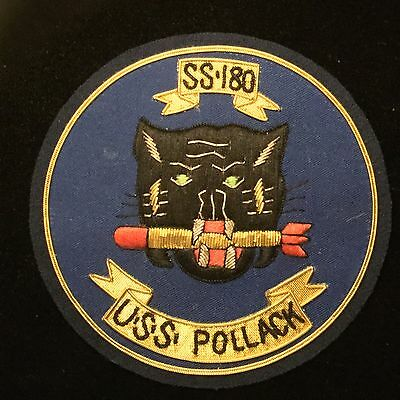 USS POLLACK  SS-180 - WWII Gold Bullion Patch