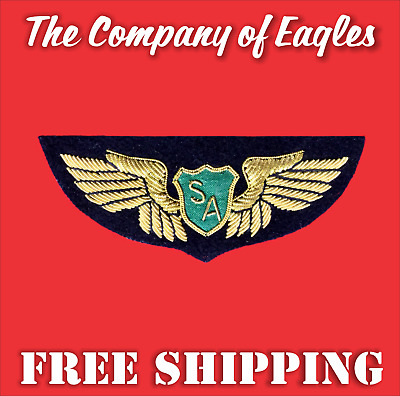 STANDARD AIRLINES Pilots Wings 1927-1930  -  Gold Bullion Patch