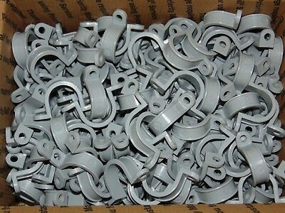 "250- 2 Hole Plastic Straps for 3/4"" Plastic Electrical Conduit / Sch 40 PVC *USA"