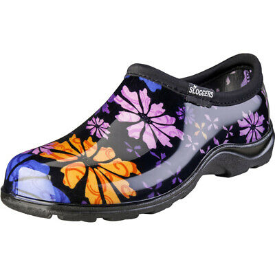 Sloggers  Flower Power  Women's  Garden/Rain Shoes  Black  6 US