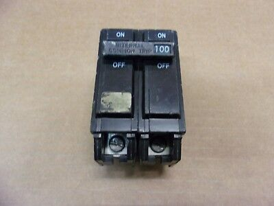 Ge Thql Thql21100 2 Pole 100 Amp 120/240V Circuit Breaker Old Style Flawed