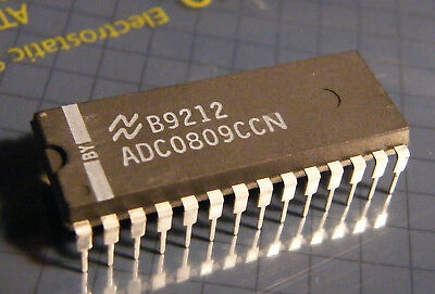 National Semiconductor ADC0809CCN 8bit ADC with 8-channel multiplexer