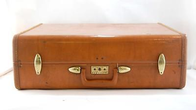 VTG 1950s Samsonite Shwayder Brown Hardshell Travel Suitcase Luggage #4637