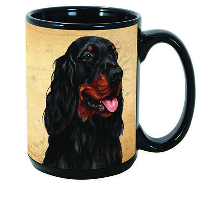Gordon Setter Faithful Friends Dog Breed 15oz Coffee Mug Cup