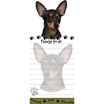 Chihuahua Black Magnetic Post It Dog Breed Stationery Notepad