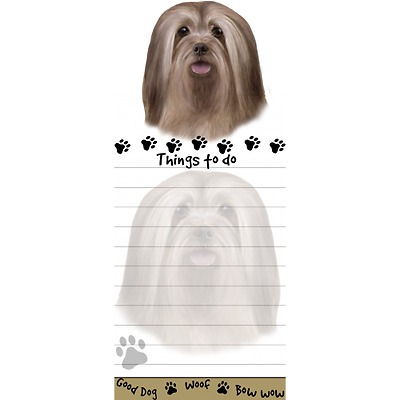 Lhasa Apso Magnetic Post It Dog Breed Stationery Notepad