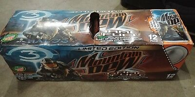 Halo 3 Mountain Dew Game Fuel Unopened pack of 12 cans, citrus cherry, 2007