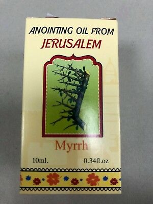Rose of Myrrh Anointing Oil 0.34 Biblical Perfume from Israel Holy Bible Land