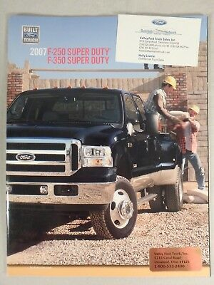 2007 Ford Truck Super Duty F-250 F-350 Dealership Sales Brochure Catalog 29 Pgs
