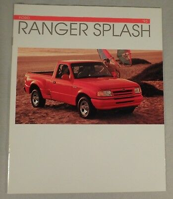 1993 Ford Ranger Splash Pick-Up Truck Dealership Sales Brochure Catalog 8 Pages