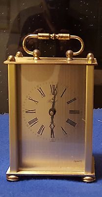 Beautiful Vintage Brass Mantel Clock by Royal Made in Germany