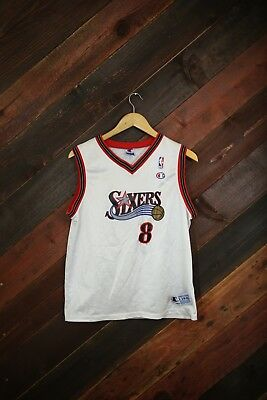 Rare Vintage Youth Large Champion Jersey Philadelphia 76ers Mckie Jersey