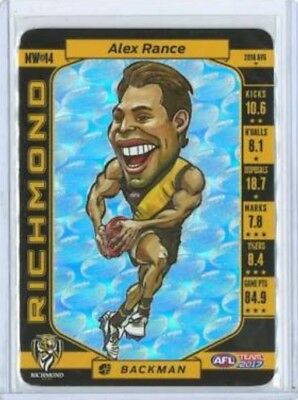 2017 Afl Teamcoach Magic Wild Card Richmond Tigers Alex Rance Mw14 Wildcard