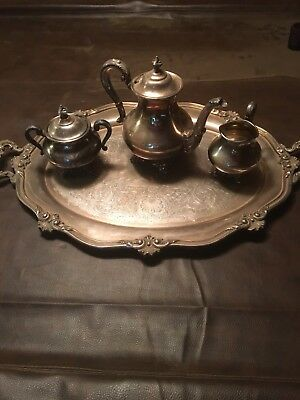 Reed and Barton Silver-plate Coffee Service with Tray. Regent 5600. Early 1950's