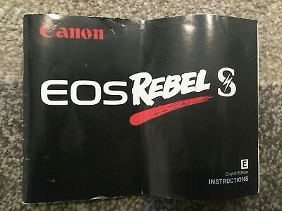 Vintage 1991 Canon EOS Rebel S Film Camera Instruction Manual Guide Book