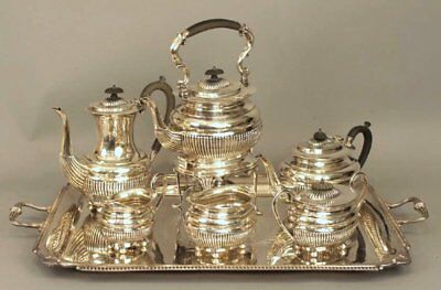 Vintage English Sterling Silver William Adams Ltd 6_Piece Huge Tea/coffee Set