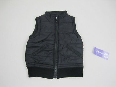 Plum Brother Baby Kids Sleeveless Zip Up Puffer Vest Jacket sizes 2 4 Black