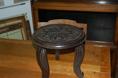 Antique Hand Carved Stool