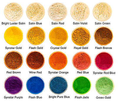Pearl Powder Solutions -Mica Pigment Powders-20 Colours Available Resin/Nail Art
