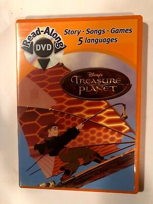 DISNEY Treasure Planet - Read-Along (DVD, 2003) STORY-SONGS GAMES -5 LANGUAGES