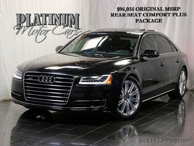 2015 Audi A8 4dr Sedan 3.0T - A8L - $95k Orig MSRP Clean Carfax - Panoramic Roof - Driver Assist - Rear Seat Comfort Pkg -MSRP $95k