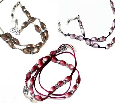 Reading eye glasses cord, spectacle chain holder lanyard beaded color choice