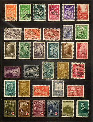 Page of earlier stamps & sets from Hungary #6