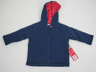 Plum Newborn Baby Long Sleeve Double Layer Hoodie Jacket size 0 Colour Navy