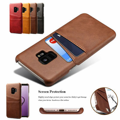 Credit Card Slot Holder Skin Leather Case Phone Back Cover For iPhone X 8 7 6S