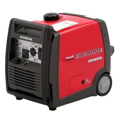 Honda Inverter Generator Quiet Equipment Gasoline Powered Wheeled Portable 3000W