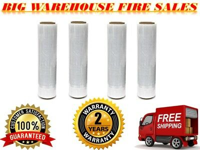 "A/ T 18"" X 1500FT 4 ROLLS x 80 Gauge  Pallet Wrap Stretch Film Shrink Hand WRAP"