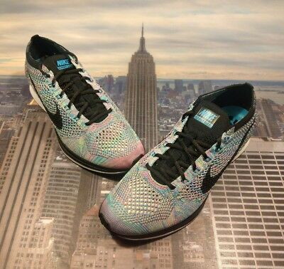 the latest eaf40 d630b Nike Flyknit Racer Multi-Color Rainbow Mens Size 8 or 9.5 Womens 526628 304  New