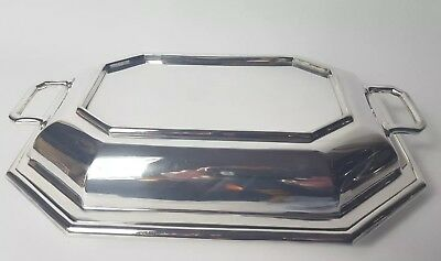 Antique Harrods London Silver Plated dinner serving dish with lid 1920's