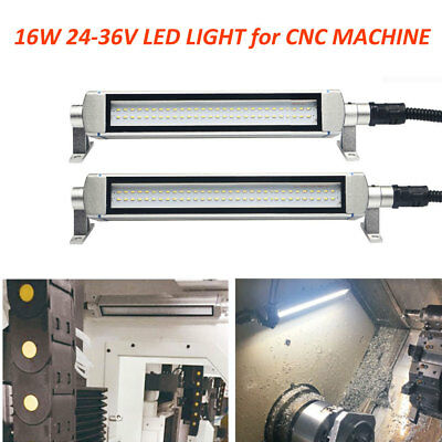 L580mm Milling Lathe LED Light 16W CNC Machine Work Lighting 24V-36V 6000K White