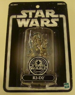 Star Wars Silver Anniversary 1977-2002 Silver R2-D2 Exclusive figure..MOC..LOOK