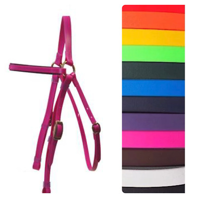 Barcoo/Stockmans  PVC Horse Bridle~Brass Fittings~In A Choice Of Vibrant Colours