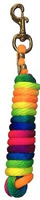 Rainbow 10ft Horse Soft Nylon Lead Rope With Large Solid Brass Snap