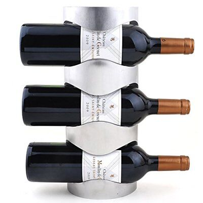 Creative Stainless Steel Wall Mounted Wine Rack Bottle Holder 3/4 Layers NEW