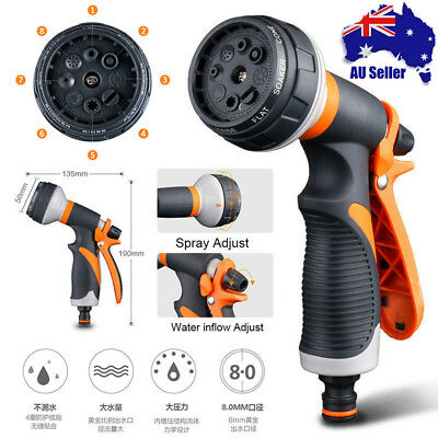 8 Pattern Water Nozzle Head Hose Sprayer Garden Spray Auto Car Washing Gun home