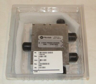 Microlab D4-78FN 4-Way Power Divider 698-2700MHz NEW in Box!